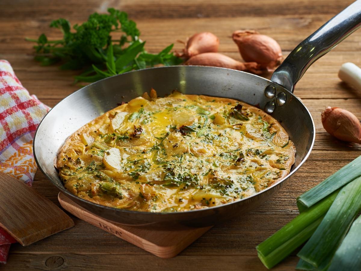 Omleta iz nedeljskega krompirja Slika 1